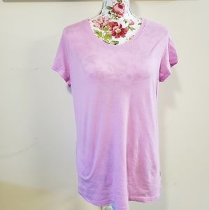 Pink scooped neck tee. Size XXL